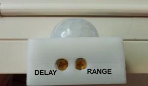 motion sensor adjustments