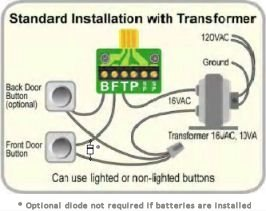 installation ichime rh ichime com Single Doorbell Wiring -Diagram Doorbell Transformer Wiring Diagram